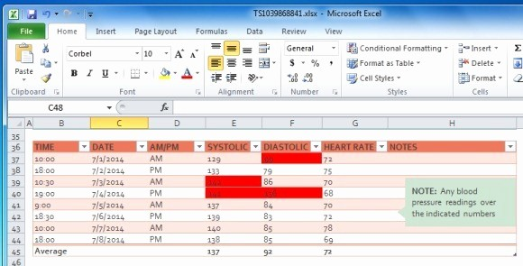 Blood Pressure Log Excel Template New Blood Pressure Tracker Template for Excel