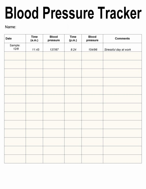 "Blood Pressure Log Print Out Elegant Search Results for ""blood Pressure Record Chart"