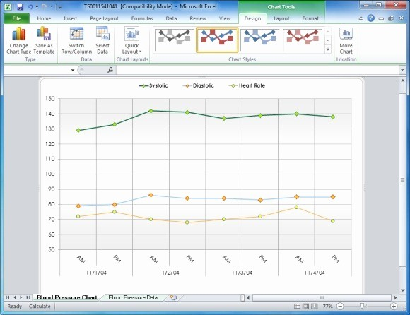Blood Pressure Log Template Excel Awesome Create Your Blood Pressure Chart with Free Excel Template