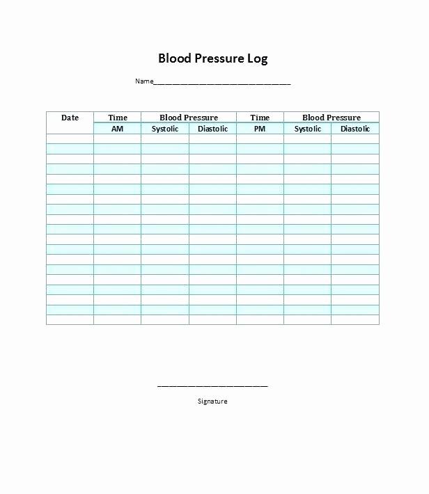Blood Pressure Log Template Excel Fresh Excel Blood Pressure Chart Blood Pressure Monitoring