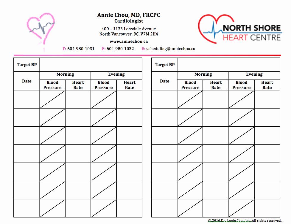 Blood Pressure Log Template Excel New 5 Blood Pressure Log Templates Word Excel Templates