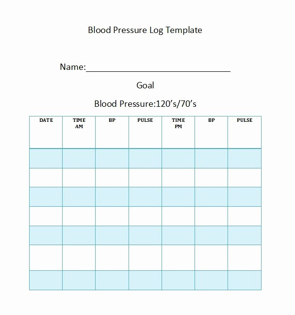 Blood Pressure Log with Pulse Best Of 30 Printable Blood Pressure Log Templates Template Lab