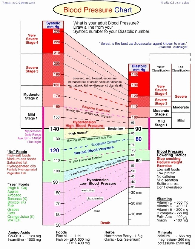 Blood Pressure Log with Pulse Inspirational Blood Pressure Chart