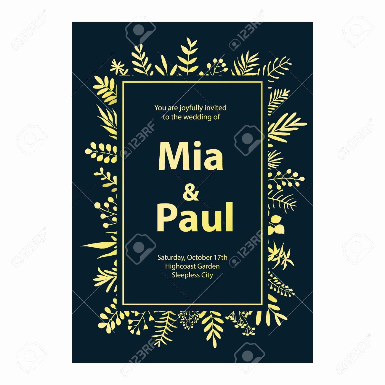 Blue and Gold Invitation Template Awesome Bcabebfbabffdcef Reference Free Blue and Gold