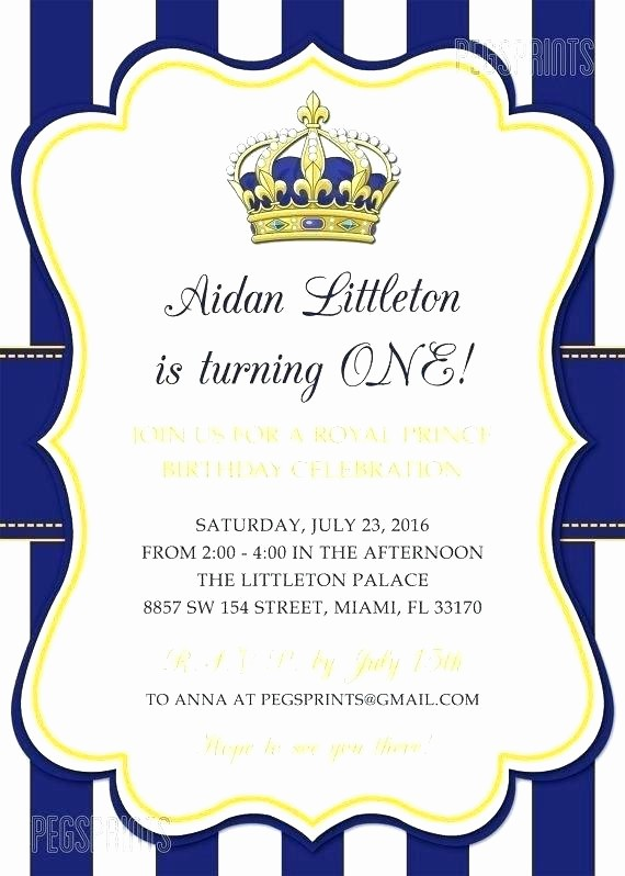 Blue and Gold Invitation Template Awesome Royal Invitation Template Birthday Party Invitation