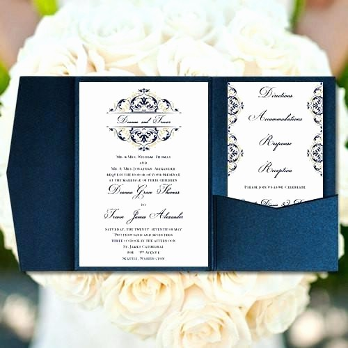 Blue and Gold Invitation Template Luxury Gold and Navy Wedding Invitations – Invitation Cards