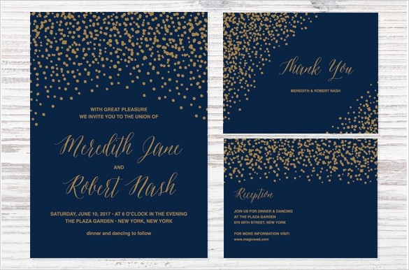 Blue and Gold Invitation Template New 49 Wedding Backgrounds Psd Vector Eps Ai