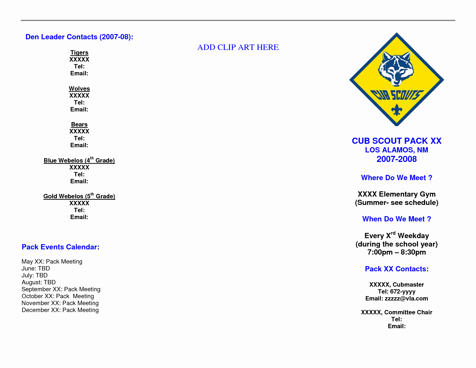 Blue and Gold Invitation Template New 5 Best Of Blue and Gold Cub Scout Clip Art Blue