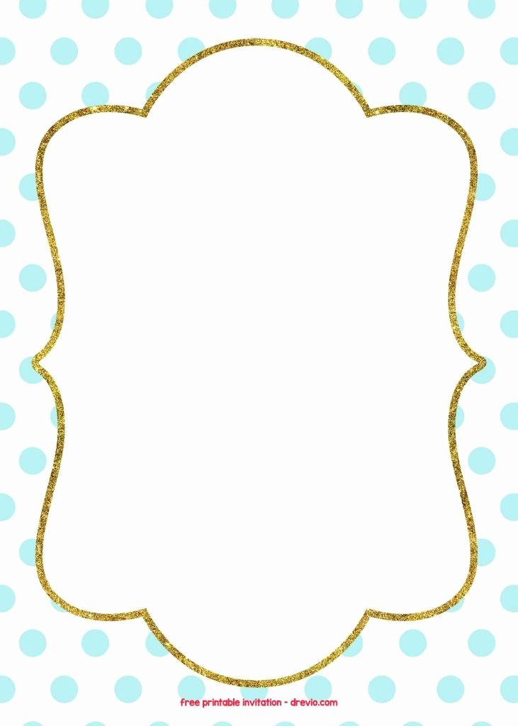 Blue and Gold Invitation Template Unique Free Golden Polkadot Invitation Template Blue Fabulous
