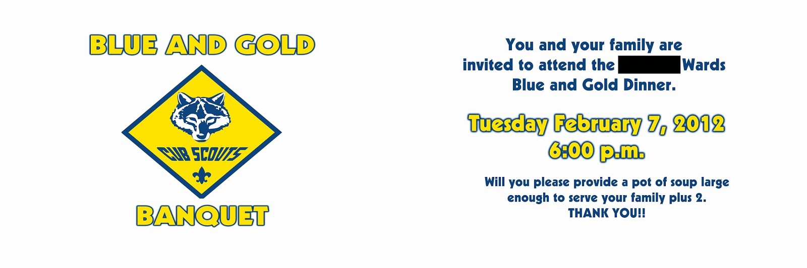 Blue and Gold Invitation Template Unique Scout Invitations Utah