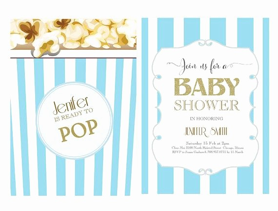 Blue and Gold Invitation Template Unique Word Template Baby Shower Invitation