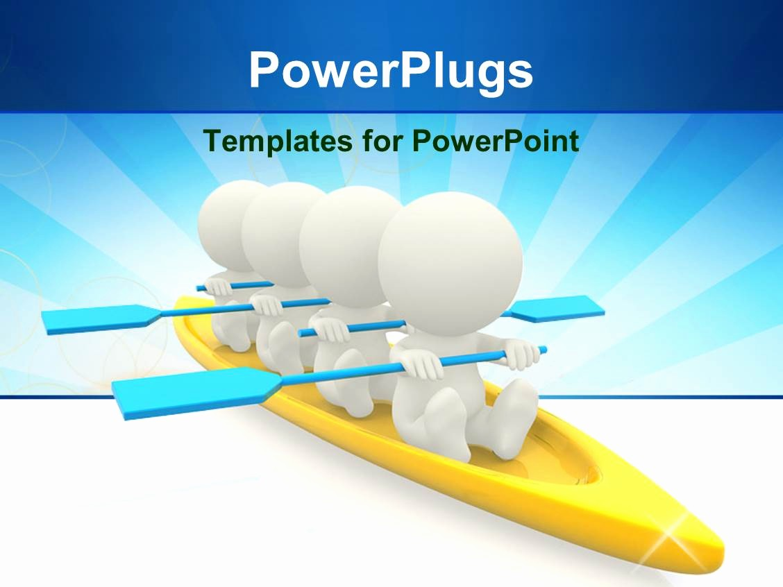 Blue and Gold Powerpoint Template Best Of Powerpoint Template Four White Figures with Blue Oars In