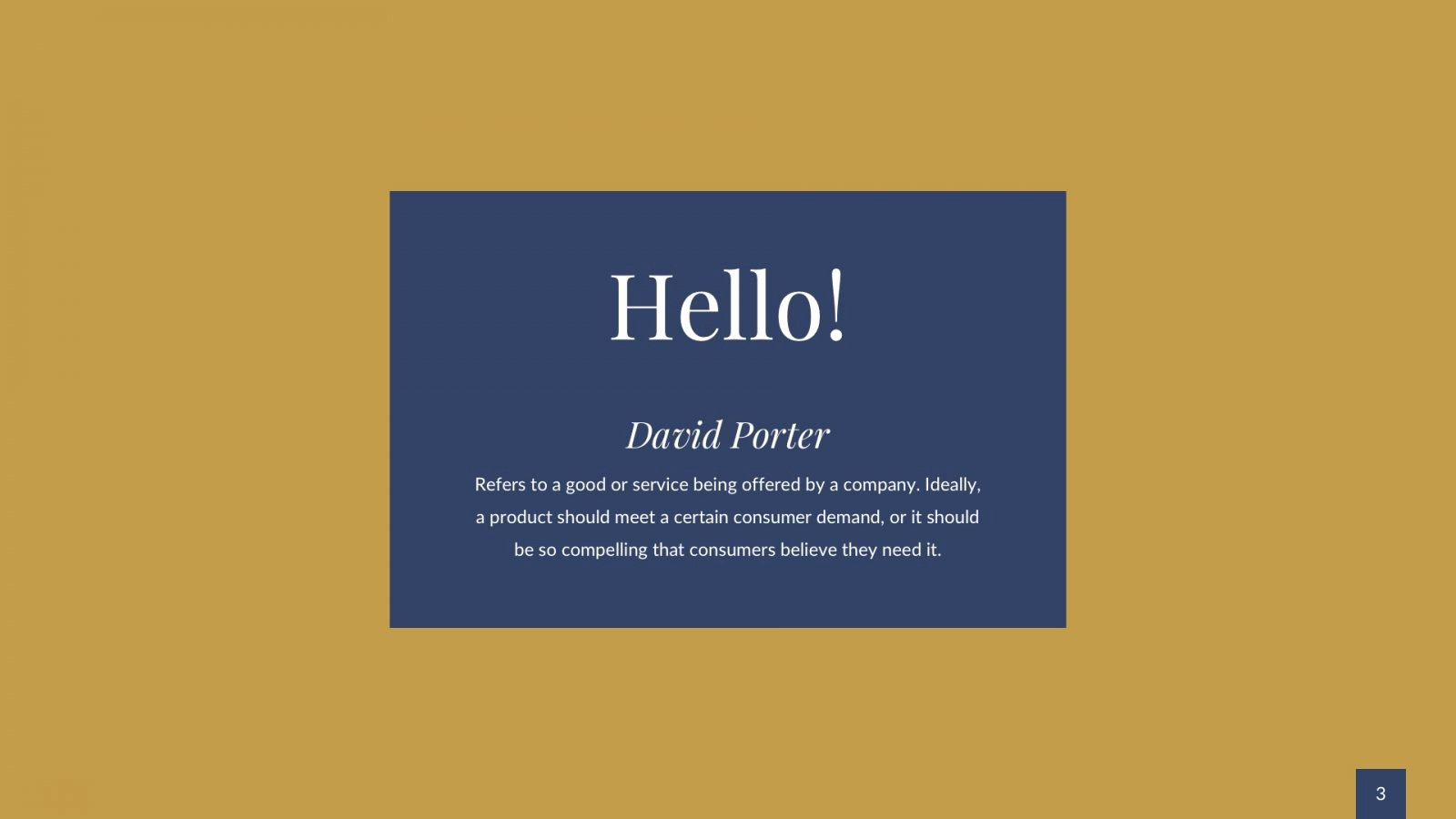 Blue and Gold Powerpoint Template Elegant Blue and Gold Elegance Free Powerpoint Template