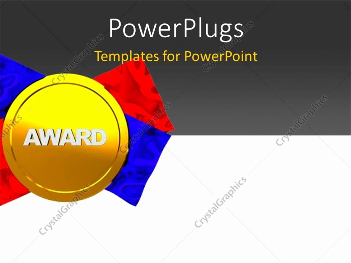 Blue and Gold Powerpoint Template Inspirational Powerpoint Template Gold Medal Award with Red and Blue