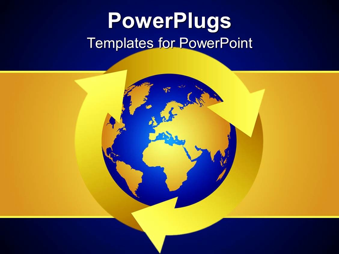 Blue and Gold Powerpoint Template Luxury Powerpoint Template Blue and Gold Colored Earth On A Blue