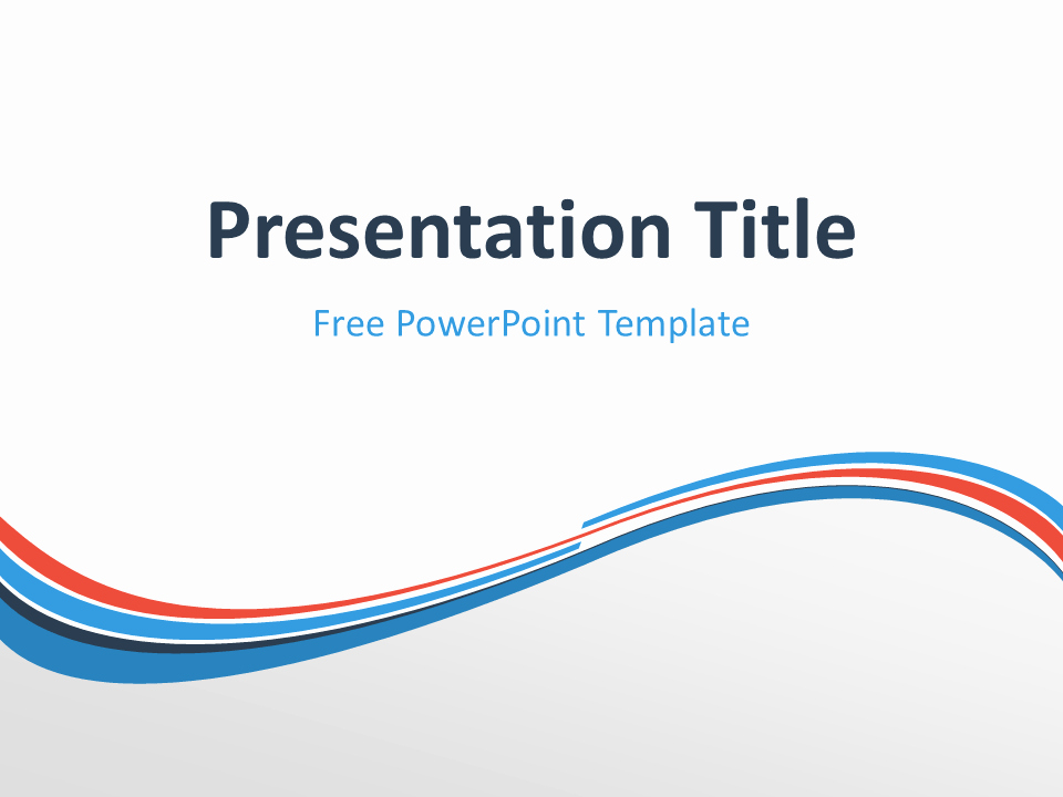Blue and Gold Powerpoint Template New Free White Powerpoint Templates Presentationgo