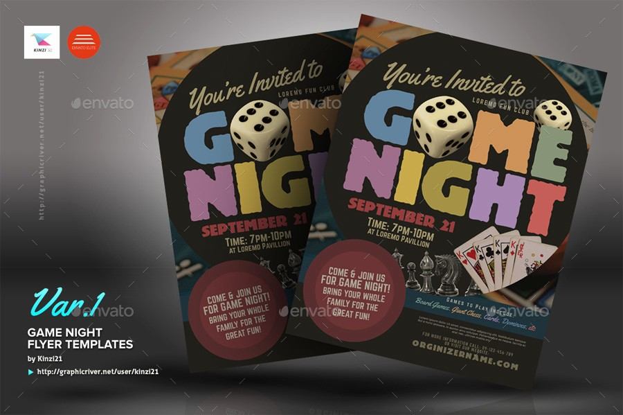 Board Game Night Flyer Template Beautiful Game Night Flyer Templates by Kinzi21