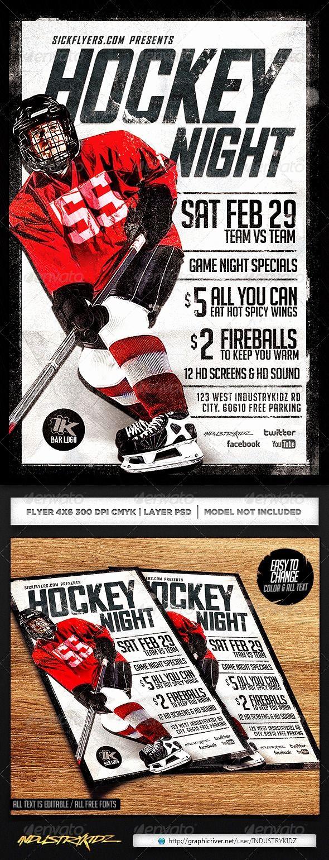 Board Game Night Flyer Template Beautiful Hockey Game Night Flyer Template