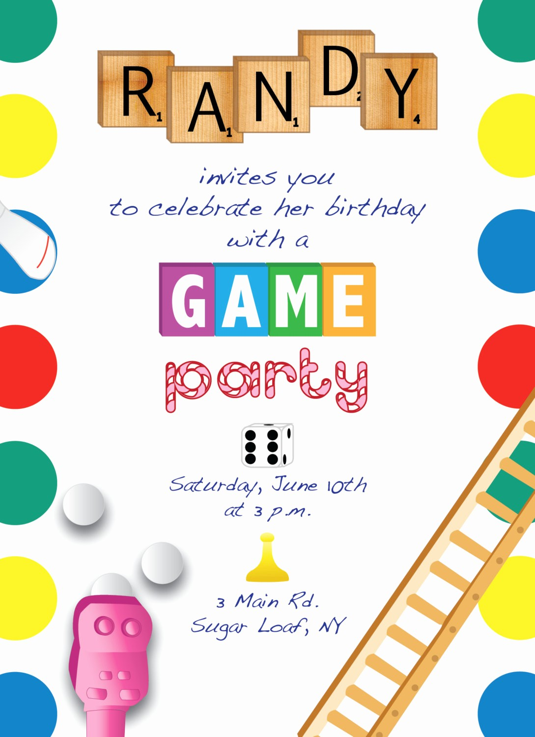 Board Game Night Flyer Template Best Of Printable Game Night Party Invitation