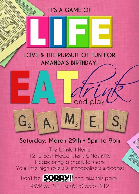 Board Game Night Flyer Template Elegant 25 Best Ideas About Game Night Parties On Pinterest