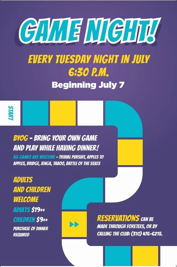 Board Game Night Flyer Template Elegant Game Night Flyer Poster Template