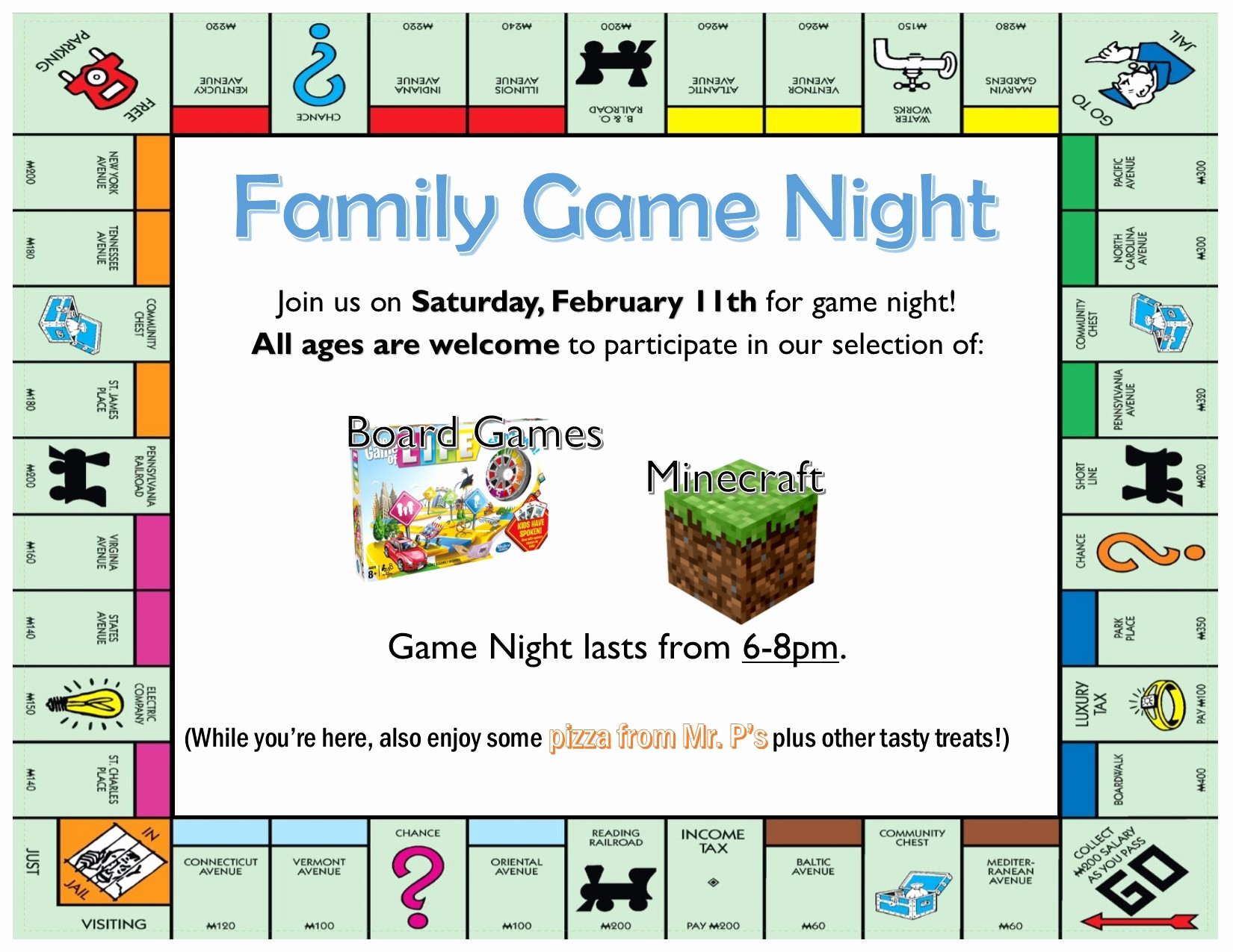 Board Game Night Flyer Template Fresh Family Game Night Delmarvalife