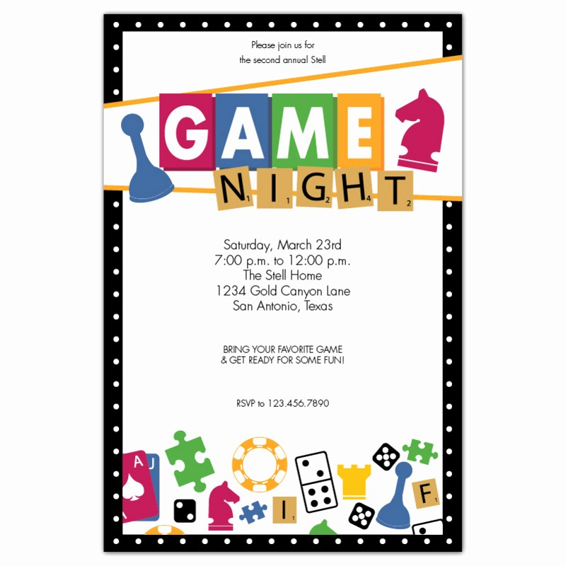 Board Game Night Flyer Template Fresh Game Night