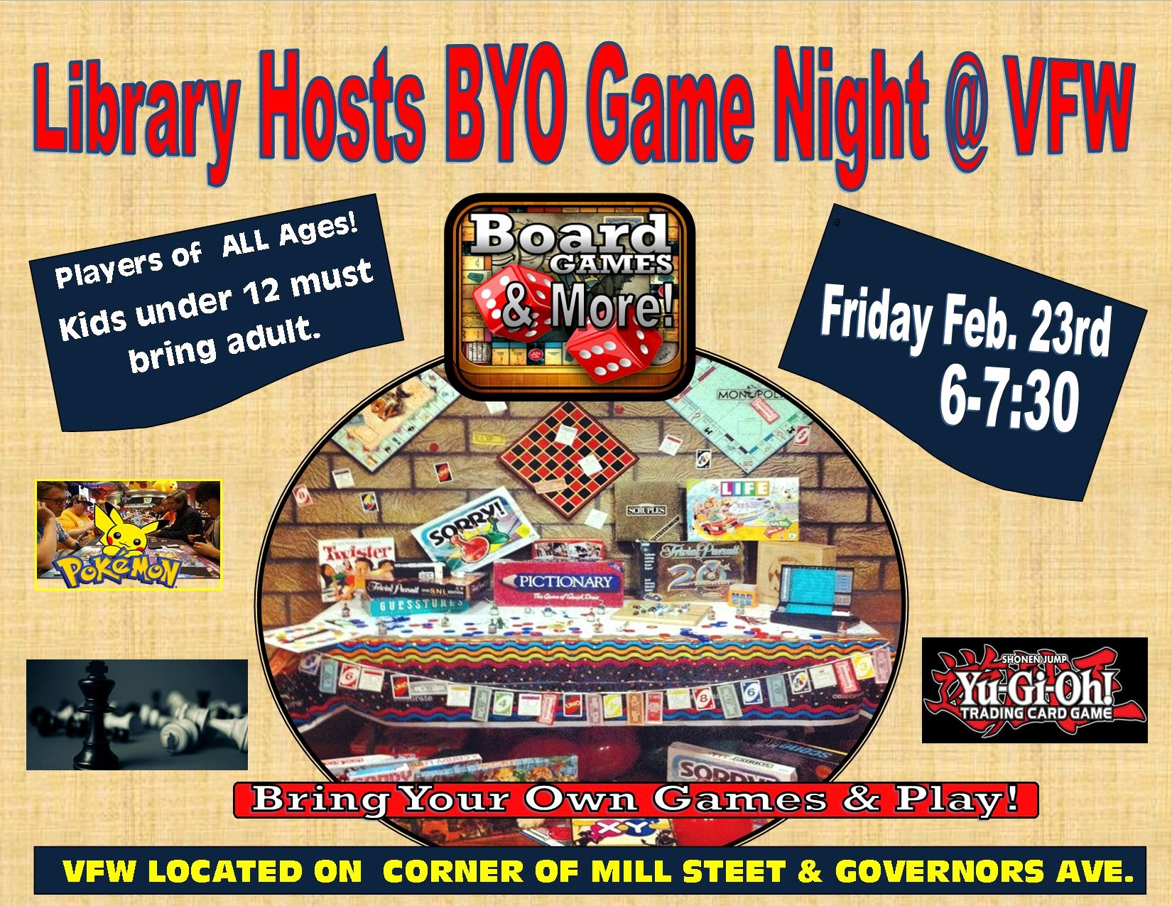 Board Game Night Flyer Template Inspirational byo Game Night