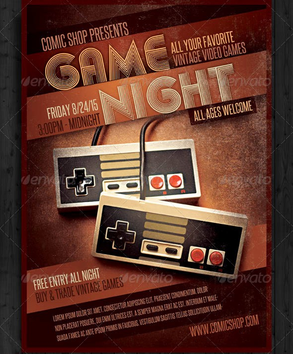 Board Game Night Flyer Template Lovely Game Night Flyer Template Yourweek Eca25e