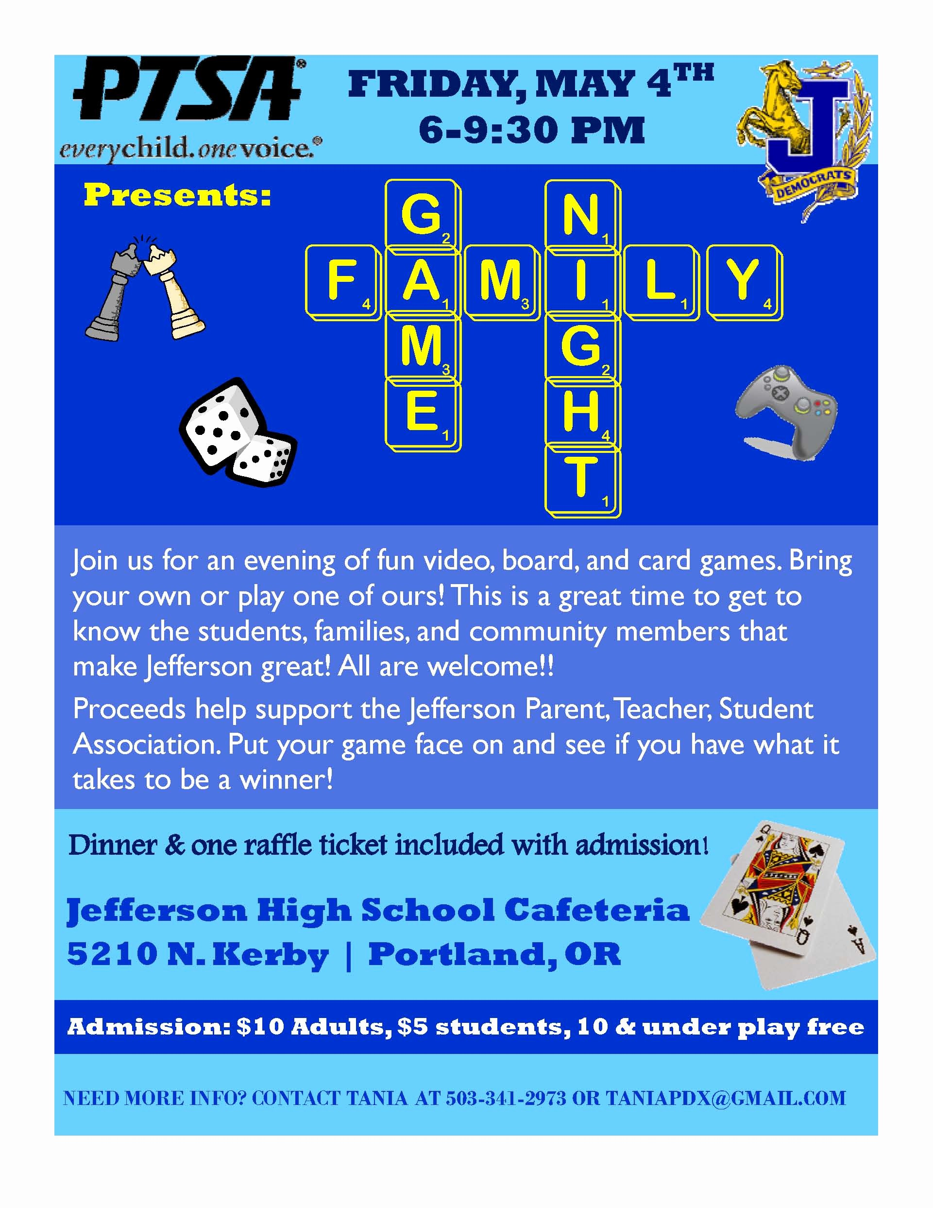 Board Game Night Flyer Template Lovely Jefferson High School