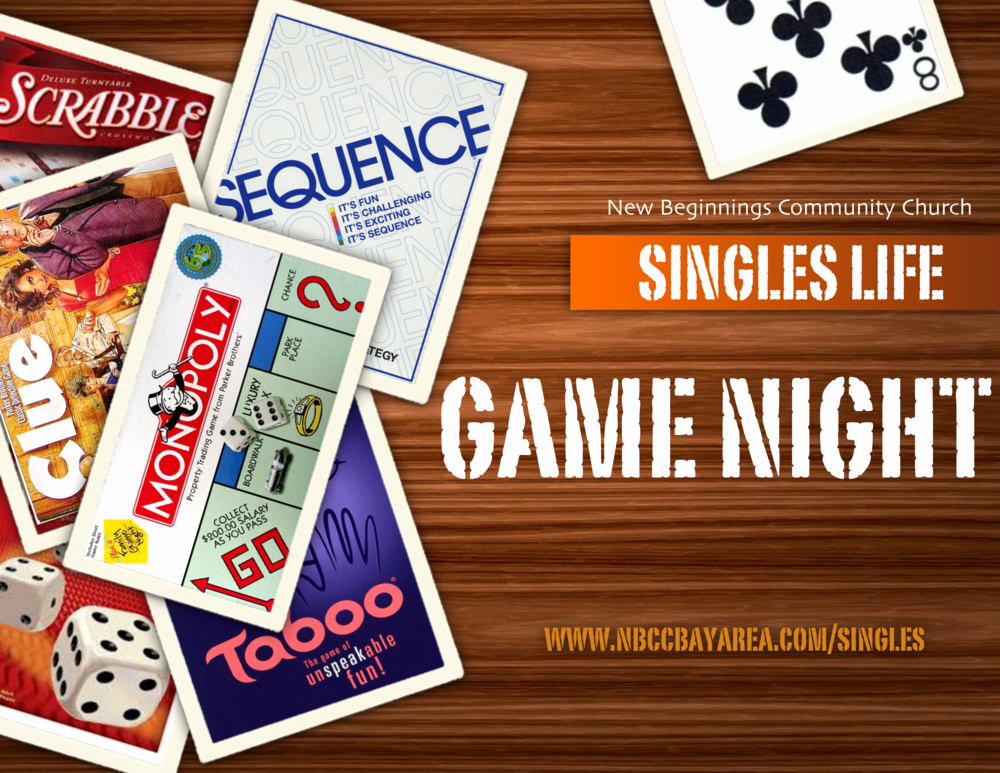 Board Game Night Flyer Template Lovely Singles Life Game Night — New Beginnings Munity Church