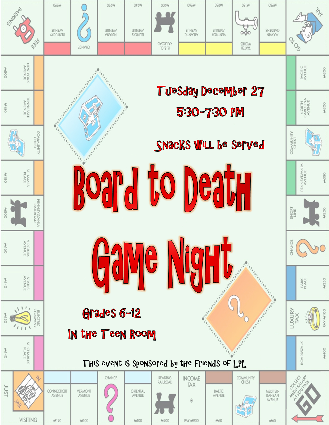 Board Game Night Flyer Template New Lunenburg Public Library