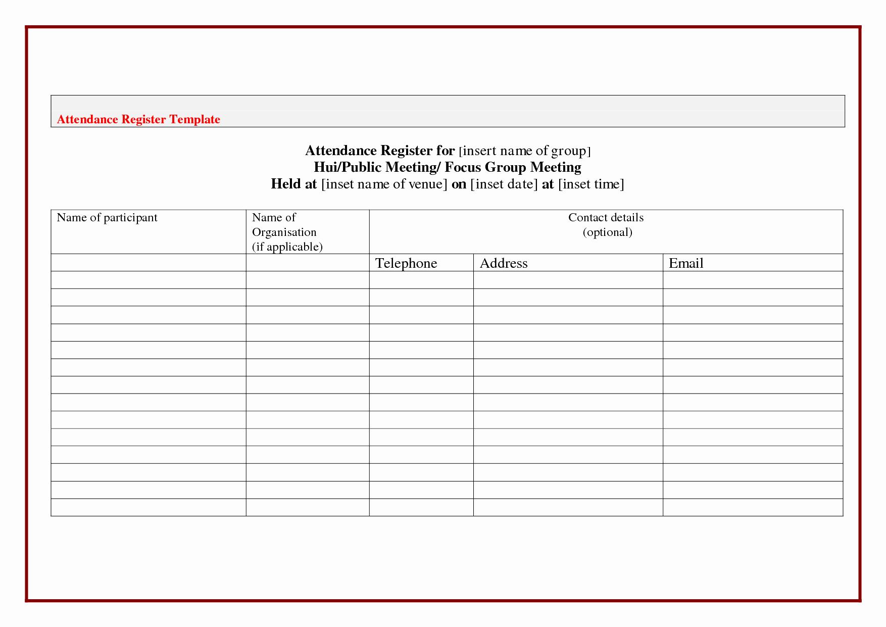 Board Meeting attendance Sheet Template Awesome 10 Best Board Meeting attendance Sheet Template