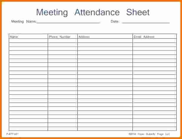 Board Meeting attendance Sheet Template Awesome Na Meeting attendance Sheet Printable to Pin On