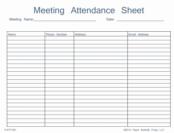 Board Meeting attendance Sheet Template Elegant 46 Best attendance Sheet Template Examples for Classroom