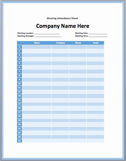 Board Meeting attendance Sheet Template Fresh 24 Of Board Meeting attendance Sheet Template