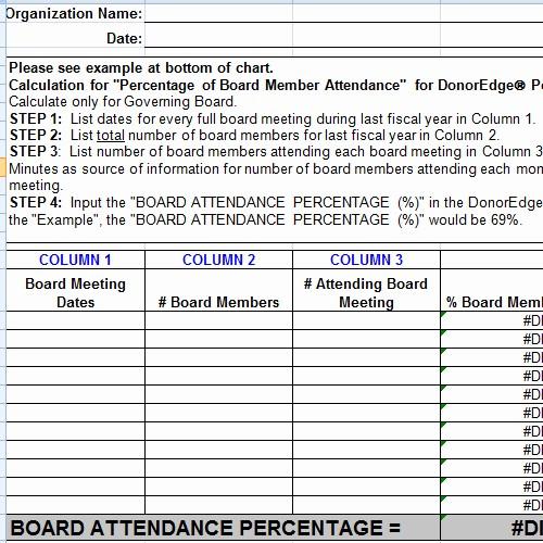 Board Meeting attendance Sheet Template Fresh Board Meeting attendance Sheet Template