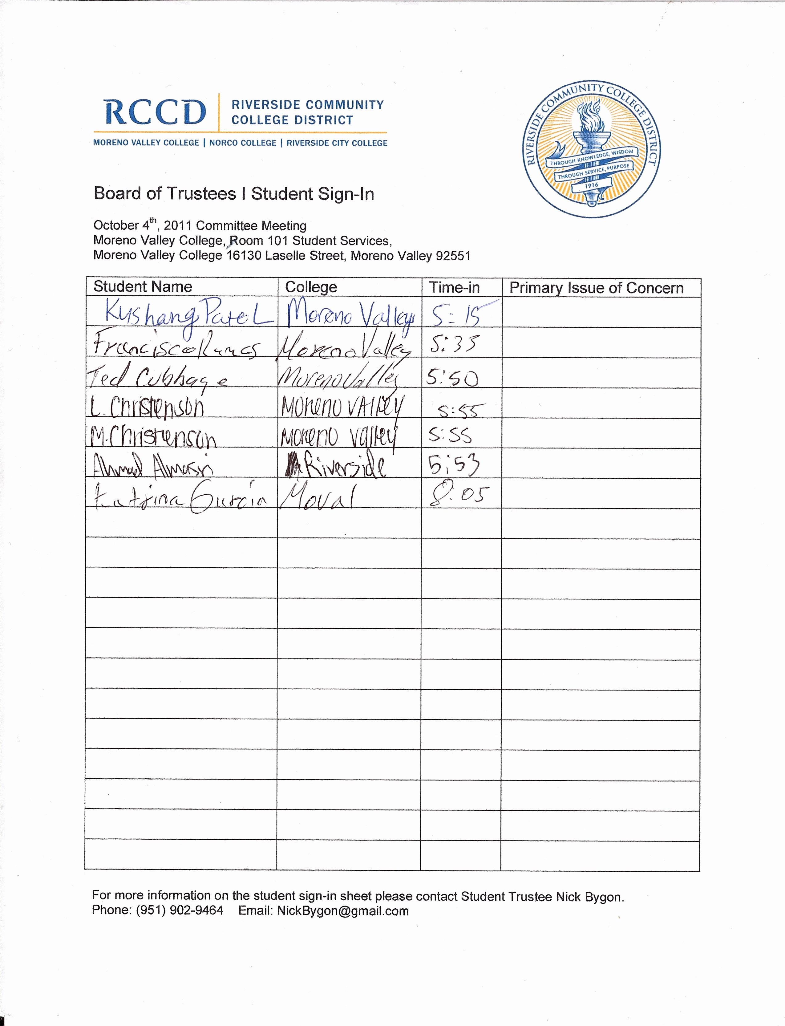 Board Meeting attendance Sheet Template Lovely Board Meeting Student attendance