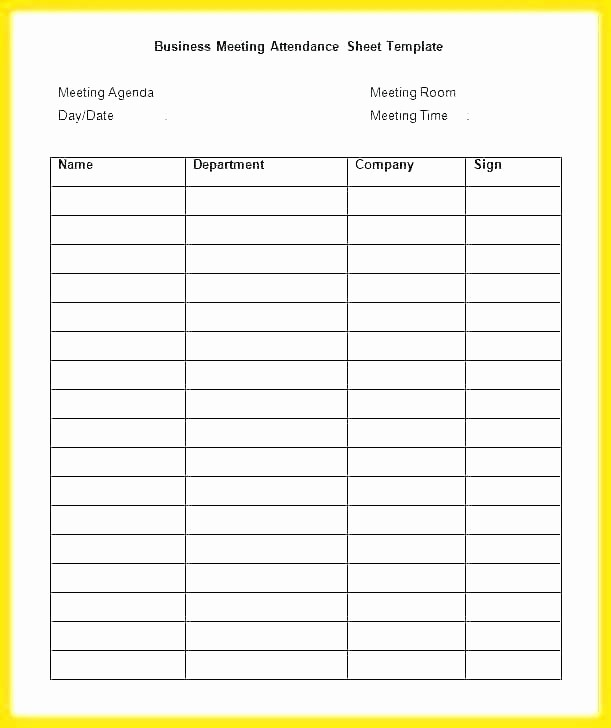 Board Meeting attendance Sheet Template Lovely Free Class List Template Excel Templates for Teachers