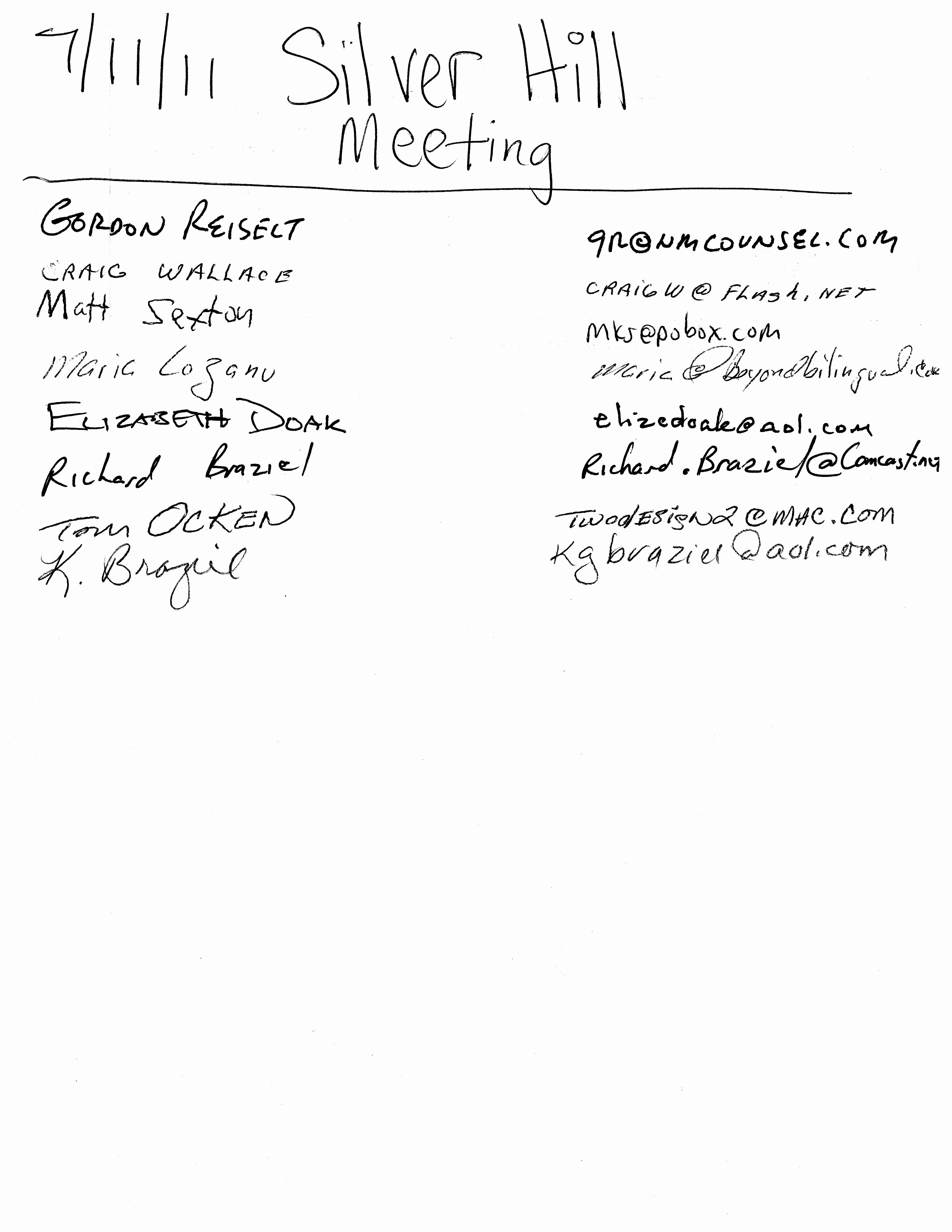 Board Meeting Sign In Sheet Beautiful Shna Meeting Minutes – 7 11 11