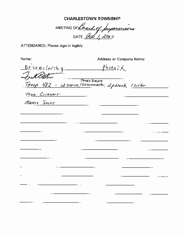 Board Meeting Sign In Sheet Best Of Board Of Supervisors Business Meeting Minutes October 1