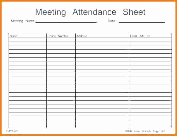Board Meeting Sign In Sheet Inspirational It Meeting attendance Template Record Efficient Sign In