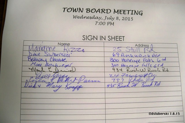 Board Meeting Sign In Sheet Lovely town Of Rush Board Meeting 7 8 15 the town Of Rush