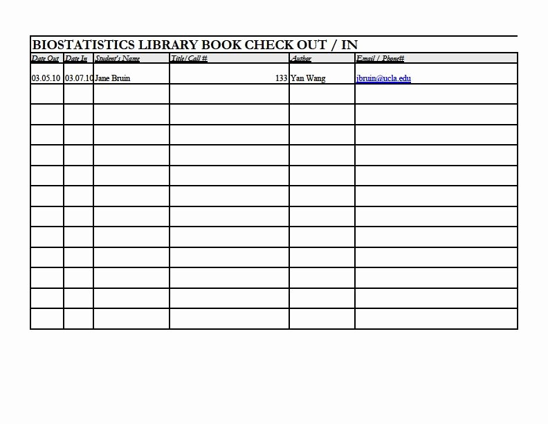 Book Sign Out Sheet Template Beautiful Best S Of Book Check Out Sheet Template Classroom