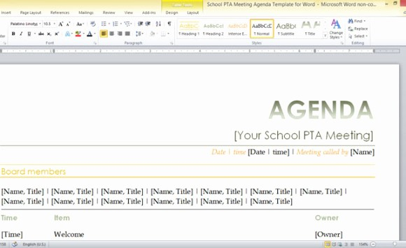 Booster Club Meeting Minutes Template Beautiful 10 Best Of School Meeting Minutes Template Free