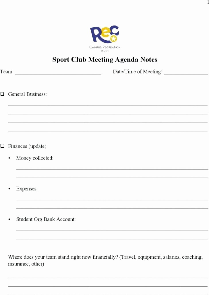 Booster Club Meeting Minutes Template Elegant Club Meeting Agenda Template social Lions – Deepwatersfo