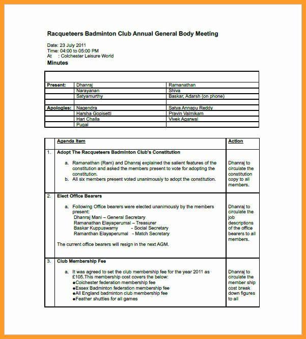 Booster Club Meeting Minutes Template Elegant Printable Meeting Minutes Template Book Club Agenda