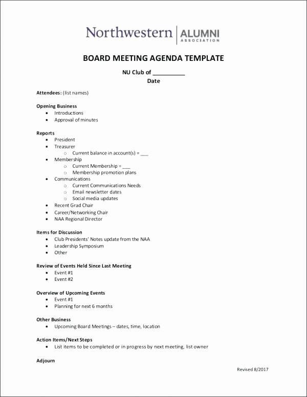 Booster Club Meeting Minutes Template New Club Meeting Agenda Template social Lions – Deepwatersfo