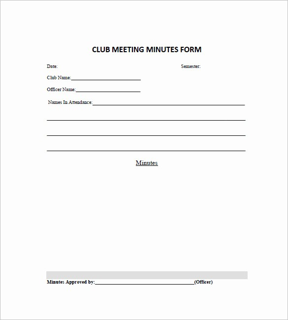 Booster Club Meeting Minutes Template Unique 12 Club Meeting Minutes Templates Doc Excel Pdf
