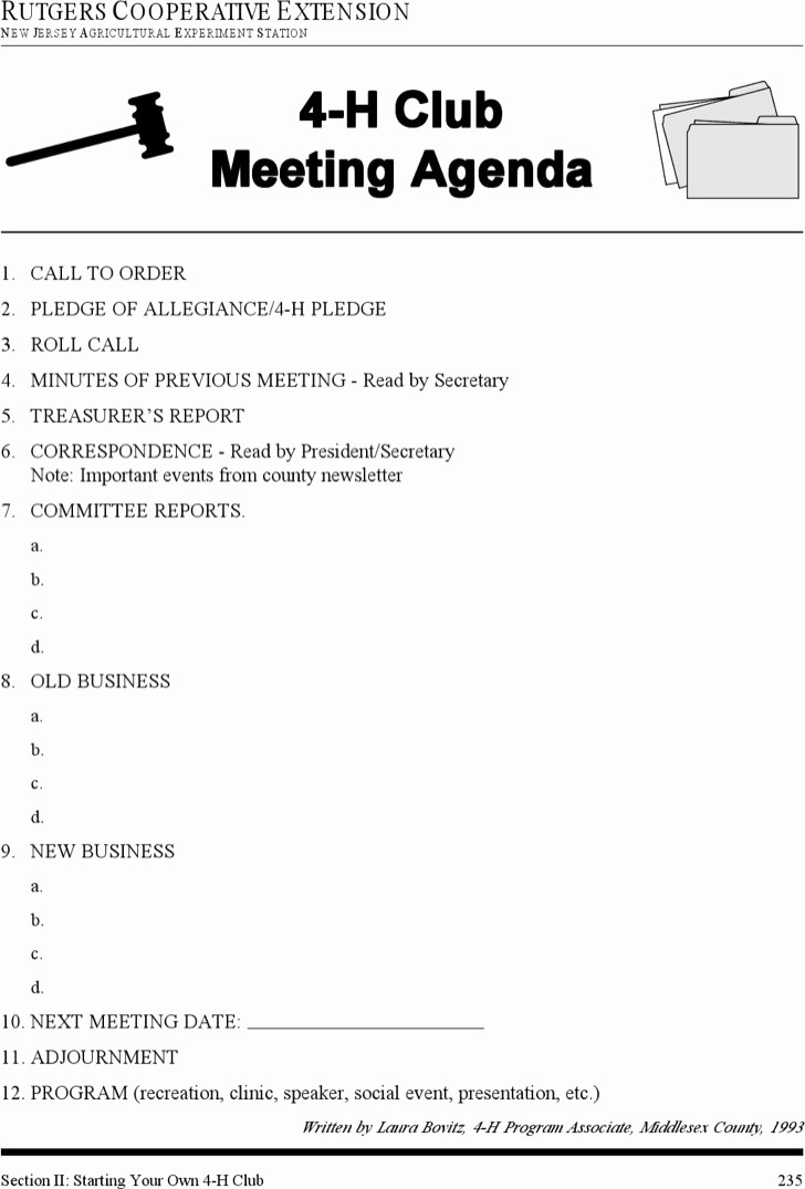 Booster Club Meeting Minutes Template Unique Download Club Meeting Agenda Templates for Free